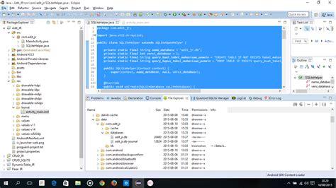membuat database xml sqlite android dengan eclipse aditya anugrah pratama