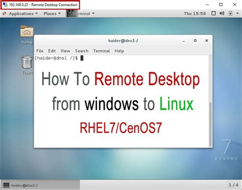 how to mount remote linux filesystem or directory using install xrdp on centos 7 rhel 7