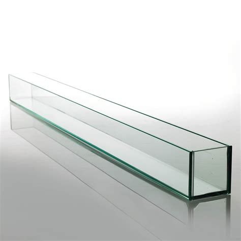 Large 47in Long Thick Glass Display, Candleholder, Planter ...