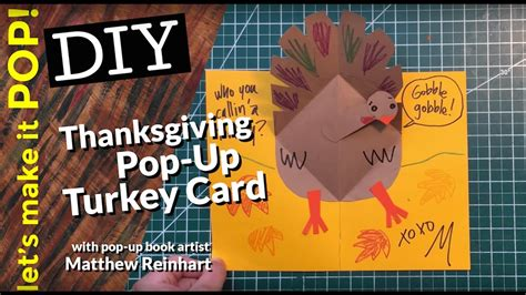 thanksgiving pop up card templates let s make it pop thanksgiving pop up turkey card