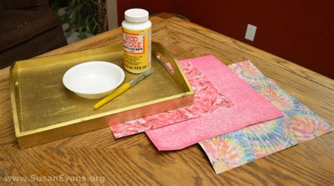 Materials Needed For Decoupage - decoupage a breakfast tray with tutorial susan