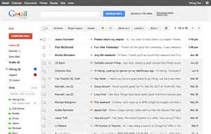 gmail home page pushing out a gmail refresh news