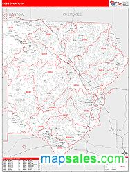 zip code map cobb county cobb county ga zip code wall map red line style by marketmaps