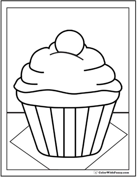 mini cupcake coloring page 40 cupcake coloring pages customize pdf printables