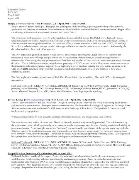 Resume Format In Ms Word 2003