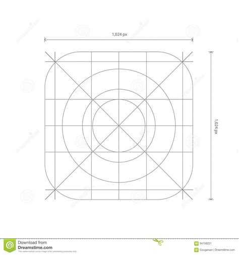 grid pattern app vector app icon dimensions development grid line stock