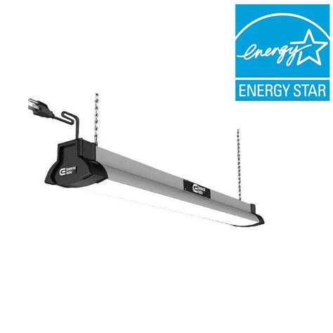 Commercial Electric 42 in. Brushed Nickel Bright/Cool White LED High Output Shop Light 54264141