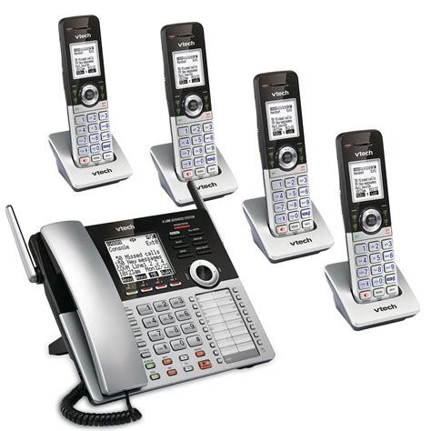 4 Phone System 4 Line Small Business Phone System Mobility Bundle 1 Sbs Mb1 Vtech 174 Cordless Phones