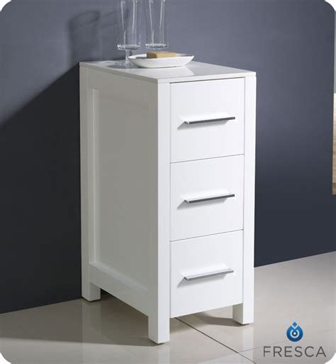 bathroom side cabinets 12 quot fresca torino fst6212wh side cabinet in white