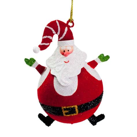 striped hat santa hanging bauble 80mm baubletimeuk