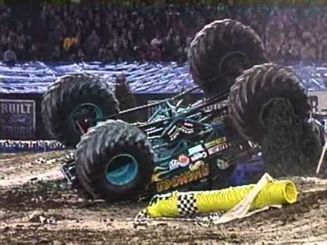 video monster truck accident collection monster truck crashes