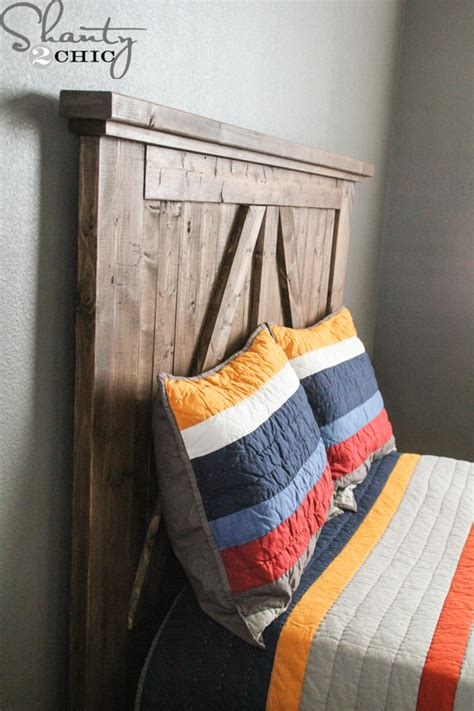 Barn Door Headboard Diy by Diy Barn Door Headboard Shanty 2 Chic