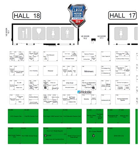 nec birmingham floor plan mototile at nec for classic car show 2014