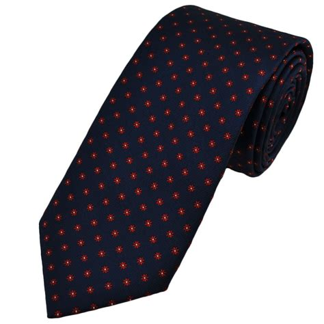 blue patterned ties navy blue red flower patterned silk tie from ties planet uk