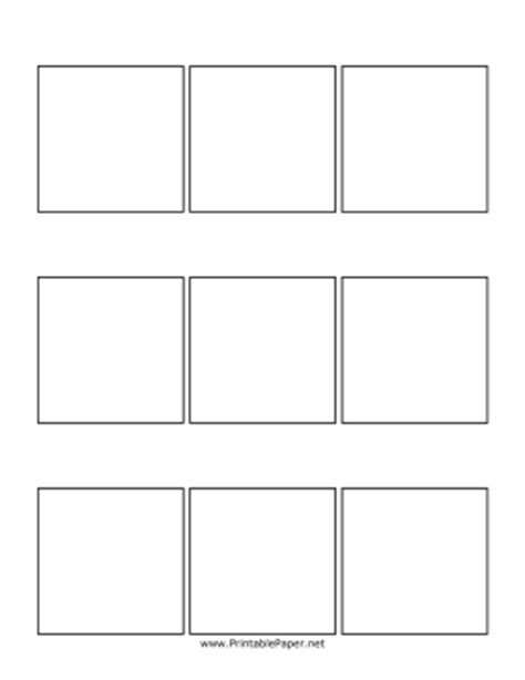 printable three panel comic page