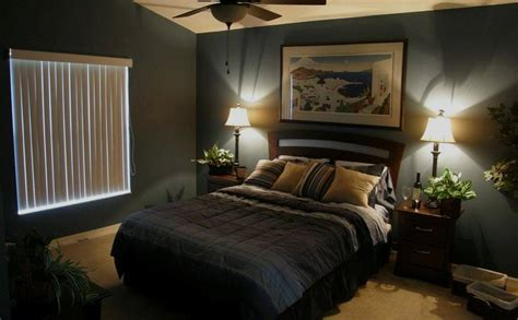 modern guys bedroom mens bedroom ideas scenery painting frame black wall tall