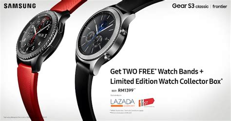 samsung gear s3 free 2 bands limited edition
