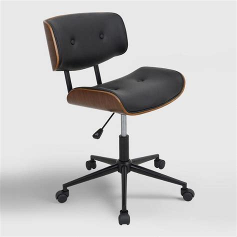 market desk chair black leander swivel office chair market
