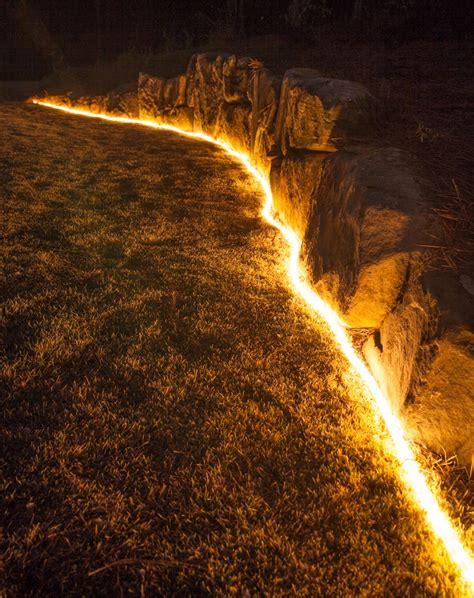 diy outdoor lighting  secret life  rope light