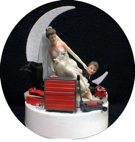 Wedding Tool Box by Car Auto Mechanic Tools Wedding Cake Topper Groom
