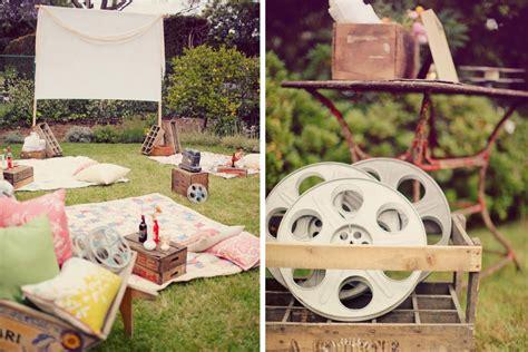 how to plan a backyard party plan a backyard movie night mommy scene