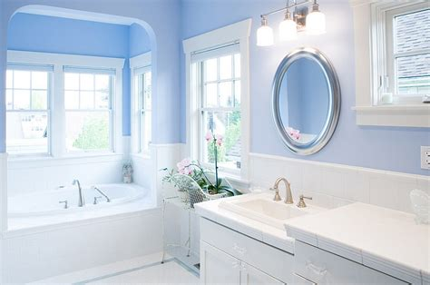 blue bathroom paint colors blue and white interiors living rooms kitchens bedrooms