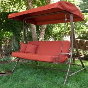 Swing Bed With Canopy Siesta 3 Person Canopy Swing Bed Terra Cotta Size 75l X 49w X 71h In 171 Patio Lawn And Garden