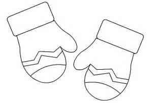 Mittens Gloves Coloring Pages  Color Luna sketch template