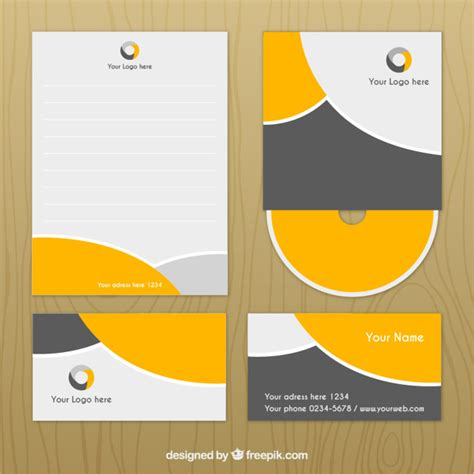 identity design template corporate identity design vector free