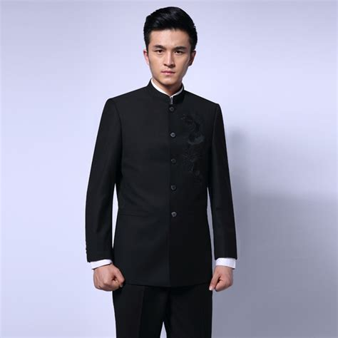 New Year Calls For A Mandarin Collar by Mandarin Collar Suit Black Embroidery Jacket