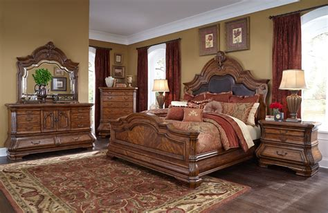michael amini bedroom furniture michael amini tuscano melange 4pc size mansion bedroom set by aico for 6 224 00 in