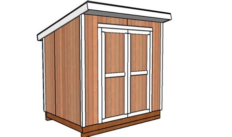 6 X 8 Shed Plans by 6x8 Lean To Storage Shed Plans Howtospecialist How To