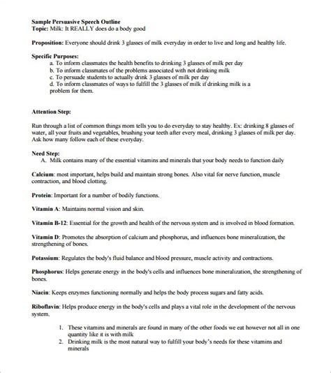 persuasive speech outline template speech outline exles persuasive speech outline sle