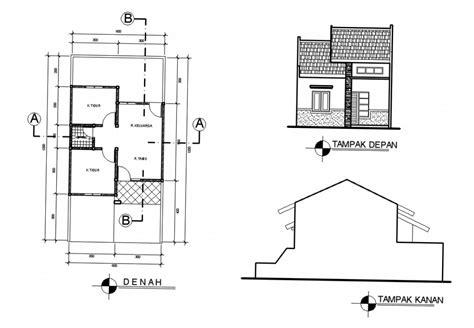 desain  denah rumah sederhana  biaya murah ndik home
