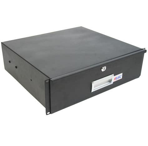 Locking Drawer pro audio dj or server rack 19 quot 3u lock drawer secure locking storage cabinet ebay