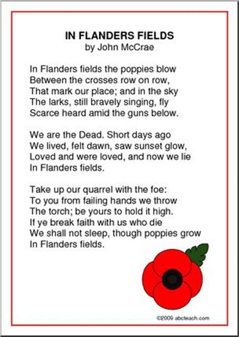 printable version of flanders fields poster in flanders fields abcteach