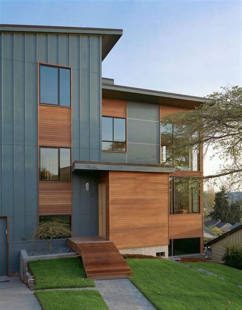 siding update  natural wood elements modern