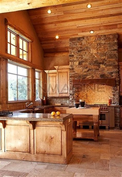rustic kitchen  vaulted ceilings favethingcom