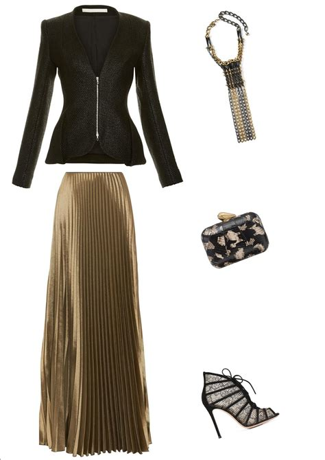 black and gold maxi skirt dress ala
