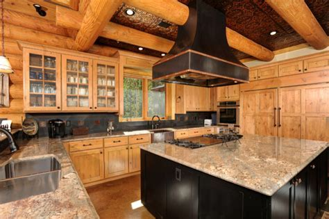 Rustic Kitchen with Classic Tin Ceiling   Rustic   Kitchen