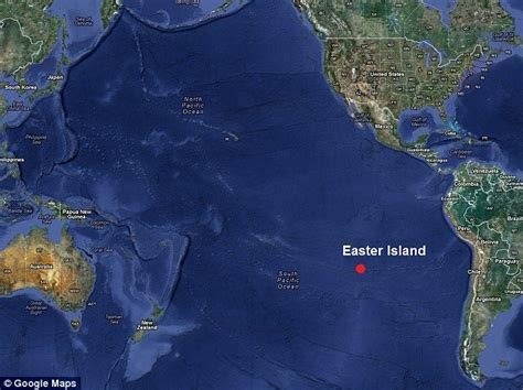 world map easter island 40th in south pacific