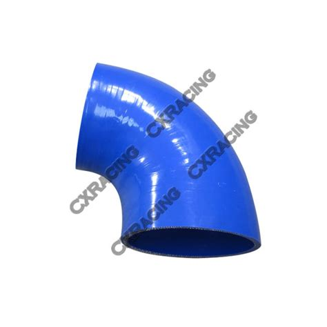 Flex Silicone Hose 3 5 Inch blue 4 quot to 3 5 quot inch silicon 90 degree intercooler pipe