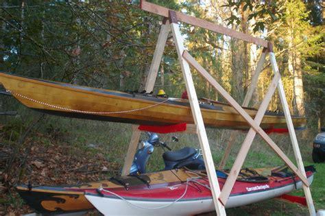 Backyard Kayak Rack How To Build A Kayak Rack Kayak Rogue