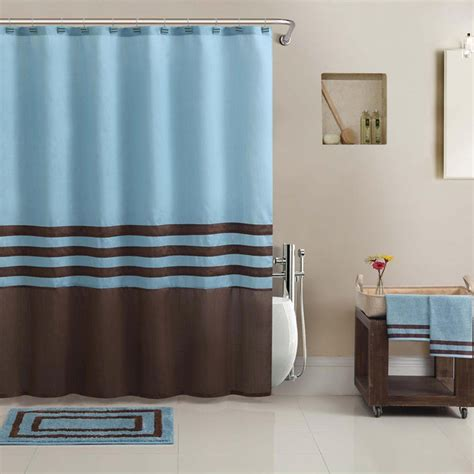 hotel collection shower curtain bathtowel rug set