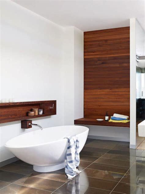 rivestimento bagno in legno 100 idee di bagni moderni per una casa da sogno colori