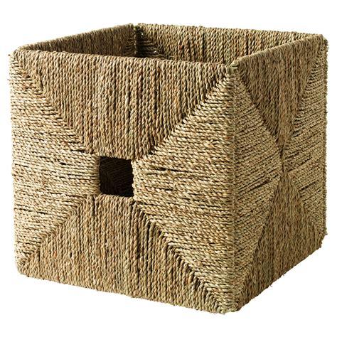 ikea baskets knipsa basket seagrass 32x33x32 cm ikea