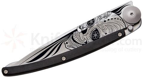 deejo knives tattoo skull granadilla 37g folding knife 3