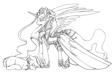 Nightmare Moon Coloring Pages Kids Coloring
