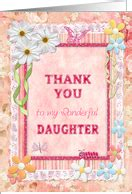Thank You Note To Daughters Thank You Cards For From Greeting Card Universe