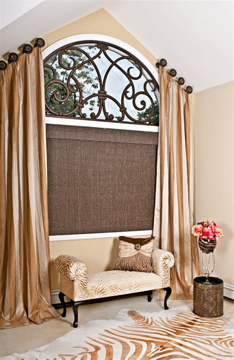 L Shades Plus by Interior Windsome Curtains For Arched Windows Decoriest